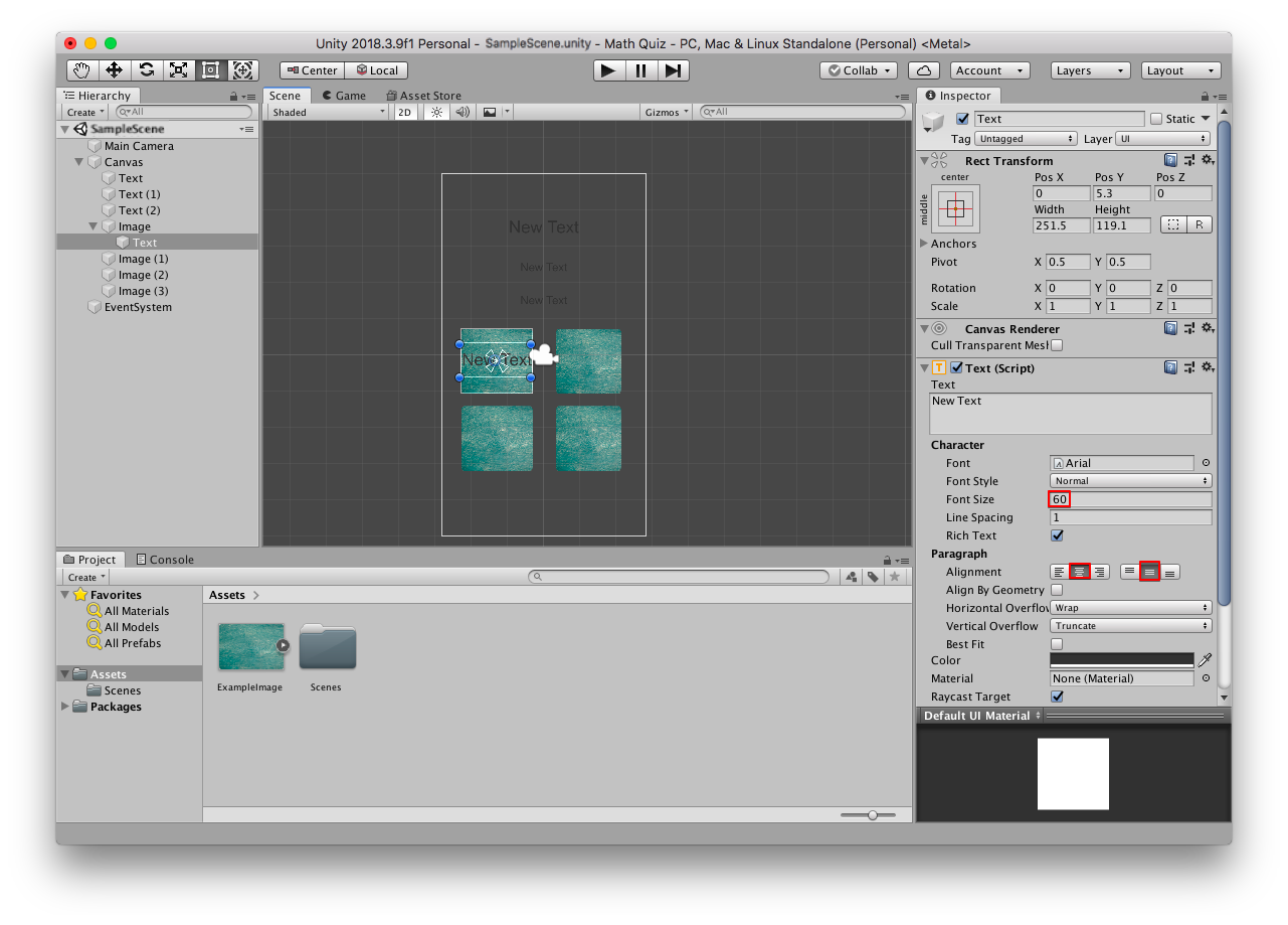 Lecture 14 Design layout - Unity math quiz game app development (c#)