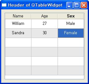 7 3 QTableWidget - 공학자를 위한 PySide2